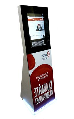 Сенсорный информационный терминал для ГБУЗ «Тамбовская областная станция переливания крови»