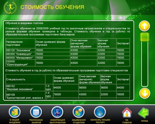 Программное обеспечение для образовательного учреждения